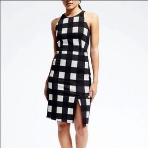 Banana Republic Buffalo Check Sheath Dress Size 0P
